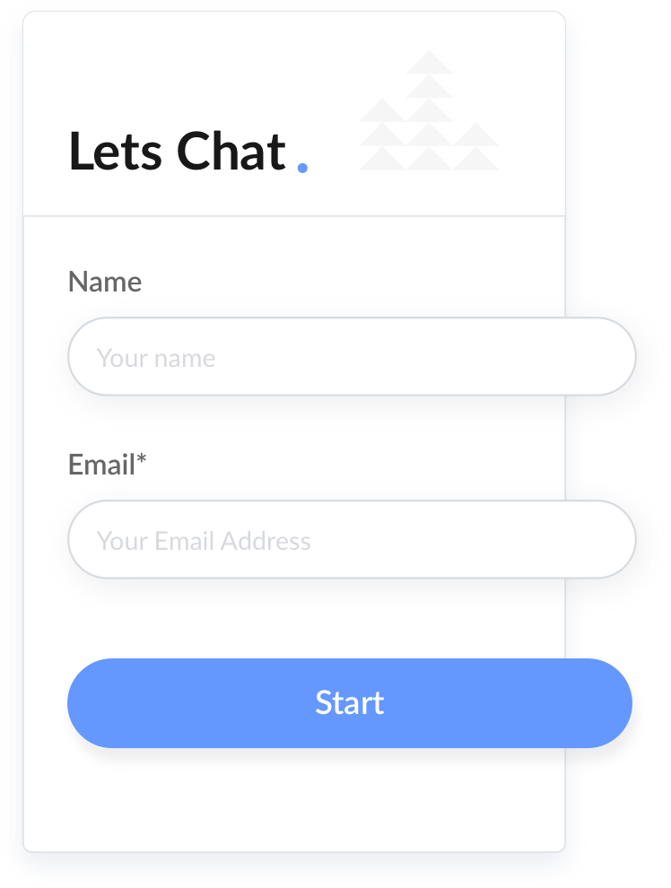 Lead capture form with name and email